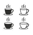 Coffee cup icon set vector image vector image