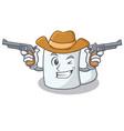cowboy tissue character cartoon style vector image vector image