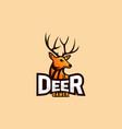 deer logo design for esport logo vector image