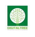 Digital tree - logo template vector image vector image
