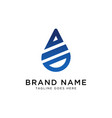 drop water logo design inspiration vector image