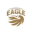 eagle logo design flying eagle logo template vector image