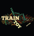 electric toy trains text background word cloud vector image vector image