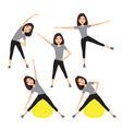 Fitness instructor A slender girl vector image vector image