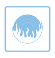 flame vinyl icon vector image