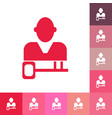 flat icon people and a business key topic vector image vector image