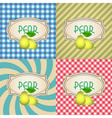 four types of retro textured labels for pear eps10 vector image vector image