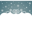 frame christmas background with snowflakes vector image
