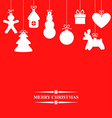 gift hang red vector image vector image