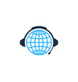 globe podcast logo icon design vector image