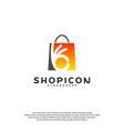 good shop logo template design great shop logo vector image vector image