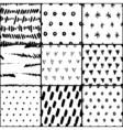 Handdrawn Pattern Set vector image vector image