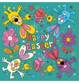 Happy Easter card 2 vector image vector image