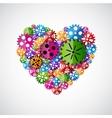 Heart of gears vector image vector image