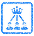 hierarchy men framed stamp vector image vector image