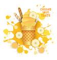 ice cream banana cone colorful dessert icon choose