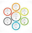 infographic circle with 6 options vector image vector image
