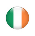 ireland flag on button vector image