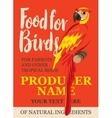 Label feed tropical birds vector image