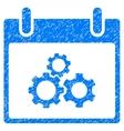 Mechanics Gears Calendar Day Grainy Texture Icon vector image vector image