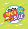 mega sale - layout concept vector image vector image