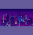 night city colorful new york urban background vector image vector image