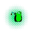 Oil canister comics icon vector image vector image