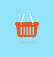 orange basket iconplastic empty shopping basket vector image vector image
