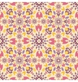 ornamental colorful tulips seamless pattern vector image