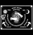 ouija boards occultism set voices from other vector image
