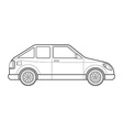 outline hatchback car body style icon vector image vector image