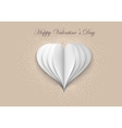 Paper Hearts on Valentine Day vector image