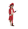 pirate man costume halloween costume vector image vector image