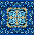 portuguese azulejo ceramic tile vector image vector image
