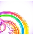 Rainbow colors abstract shining spirals background vector image
