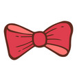red holiday bow tie icon hand drawn style vector image vector image