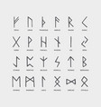 retro norse scandinavian runes sketch celtic vector image