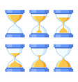 sandglass icons set flat style design vector image