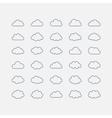 Set blue cloud shapes vector image
