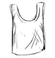 singlet drawing on white background vector image