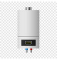 small boiler mockup realistic style vector image vector image