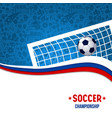 soccer championship match football design vector image