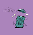 street trash ecology and waste management vector image