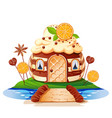 sweet little house vector image vector image