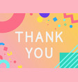 thank you phrase in wavy fantasy font vector image vector image