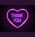 thank you realistic neon text sign isolated vector image vector image