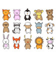 toy animals cartoon set vector image