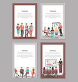 training business posters set of coworkers vector image vector image