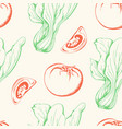 vegetable vintage seamless pattern vector image vector image