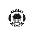 vintage cupcake bakery logo design vector image